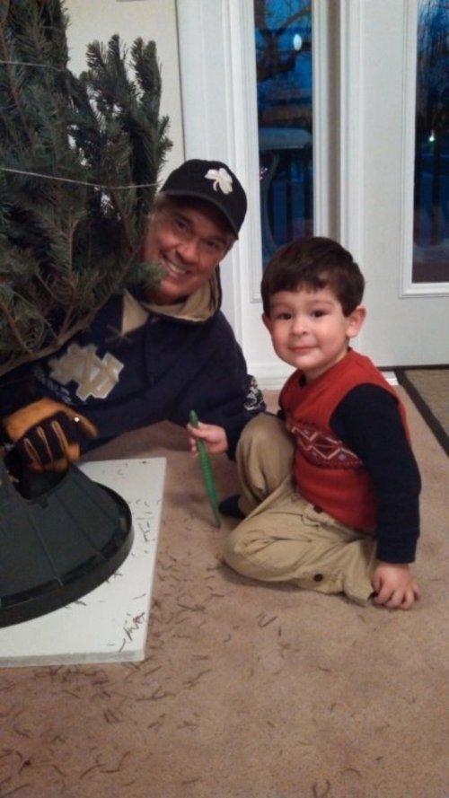 Courtesy of Steven Klemz The Rev. Steven Klemz with his grandson Micah Steven Klemz.