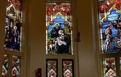 Scott Sommerdorf   |  The Salt Lake Tribune St. Joseph is depicted in this stained glass in St. Joseph's parish in Ogden, Wednesday December 18, 2013.