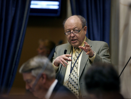 Scott Sommerdorf   |  Tribune file photo Sen. Lyle Hillyard, R-Logan, has concern about whether the attorney general's office has the expertise to handle some of the state's high-profile cases. There are discussions about relying more on outside counsel.