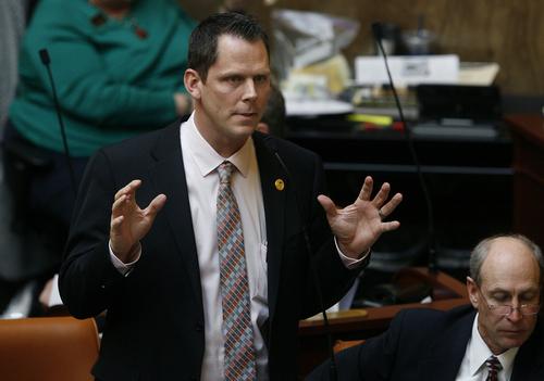 Scott Sommerdorf   | Tribune file photo Rep. Jacob Anderegg, R-Lehi in the Utah House of Representatives, Thursday, February 28, 2013.