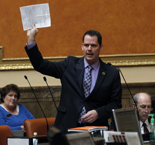 Al Hartmann  |  Tribune file photo Rep. Jacob Anderegg, R-Lehi, is sponsoring anther marriage amendment to Utah's Constitution, seeking to ensure that churches cannot be forced to participate in marriages that violate their religious views.