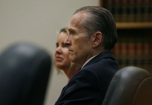 Scott Sommerdorf   |  The Salt Lake Tribune Martin MacNeill listens to court proceedings after he was found guilty of murder and obstruction of justice early Saturday morning, November 9, 2013.