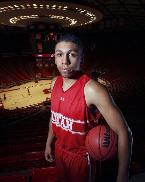 AAl Hartmann  |  The Salt Lake Tribune Jordan Loveridge, star freshman basketball player for the Utes. This week will be the toughest stretch of his career.  He looks like the future of Utah basketball. Is he ready for Pac-12 competition?