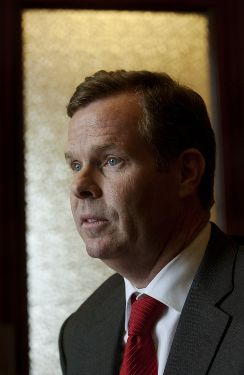 Steve Griffin | The Salt Lake Tribune  John Swallow, Chief Deputy Utah Attorney General, and newly elected Utah Attorney General, in the attorney general's offices at the Utah State Capitol Building in Salt Lake City, Utah Monday December 3, 2012.