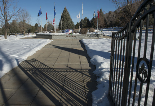Steve Griffin     The Salt Lake Tribune  Mountain View Memorial Mortuary and Cemetery in Sandy, Thursday, Jan. 2, 2014.