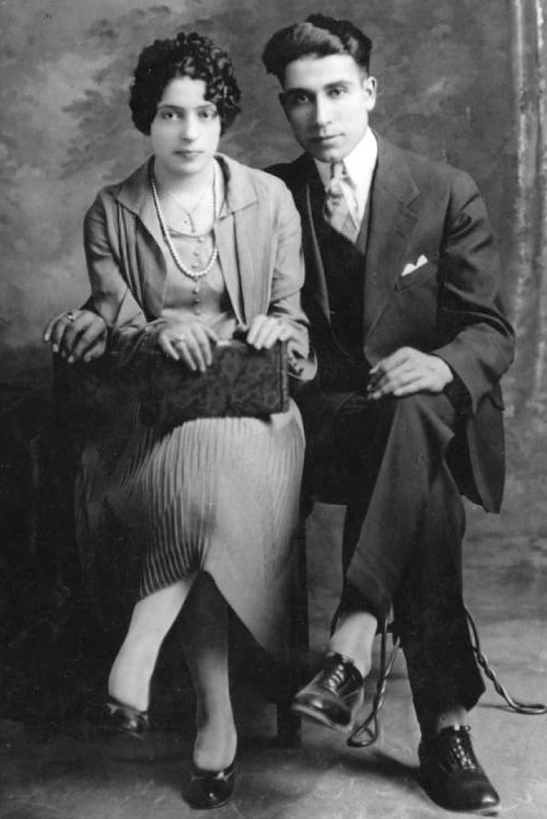 (Courtesy Utah State Historical Society)  A greek bride and groom around 1920.