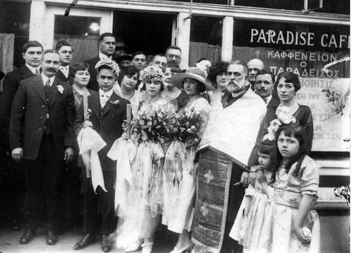 Courtesy Utah State Historical Society Greek wedding of Nicholas Mouskondas and Anna Marcellos, 1921.