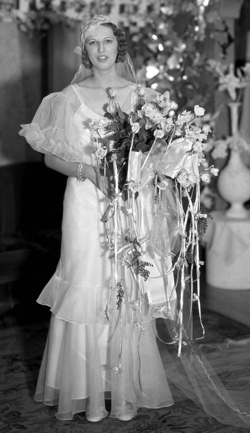Courtesy Utah State Historical Society Roy Mayberry bride,  June 18, 1923.