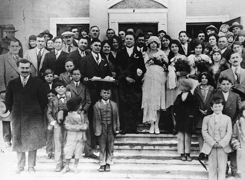 Courtesy Utah State Historical Society Mr. and Mrs. Nick Bikakis. Wedding, East Carbon.