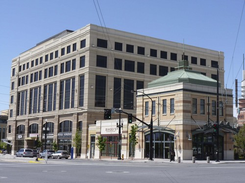 Two privately held real estate investment firms, Oaktree and Hines, partnered in 2013 to buy  Three Gateway Office Building and several other properties in The Gateway near downtown Salt Lake City. Courtesy The Boyer Company