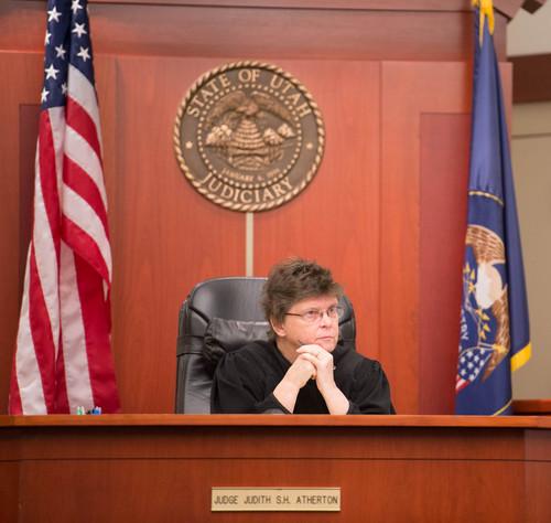 Trent Nelson  |  The Salt Lake Tribune Judge Judith Atherton at the murder trial of Esar Met in Salt Lake City, Tuesday Jan. 7, 2014. Met is accused of killing 7-year-old Hser Ner Moo in 2008.