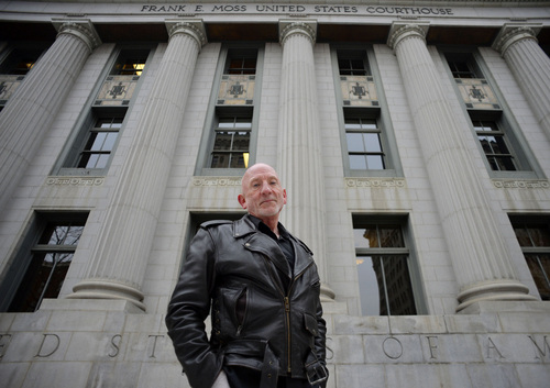 Keith Johnson | The Salt Lake Tribune  Mark Lawrence outside the Frank E. Moss U.S. District Courthouse in Salt Lake City, January 7, 2014.