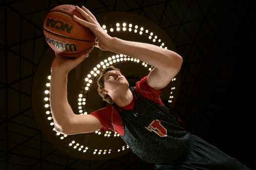 Francisco Kjolseth  |  The Salt Lake Tribune It was a year ago that Utah's center Dallin Bachynski melted down, briefly left the team and seemed finished with the Utes. What a turnaround. He's now emerging into arguably Utah's third most important player behind Loveridge and Wright. He's been a man in the middle and is Utah's only big man capable of competing with the bigs the Pac-12 offers. Last week he made the crushing turnover that lost the game to Oregon.