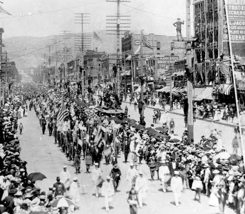 Photo Courtesy Utah State Historical Society  Spanish-American War--Homecoming.