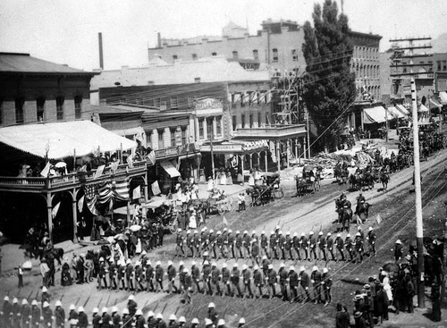 Photo Courtesy Utah State Historical Society  Black troops. 24th infantry, 9th & 10th cavalry. 1890's stationed in Utah.