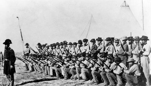 Photo Courtesy Utah State Historical Society  Utah Territorial Militia, Nauvoo Legion.