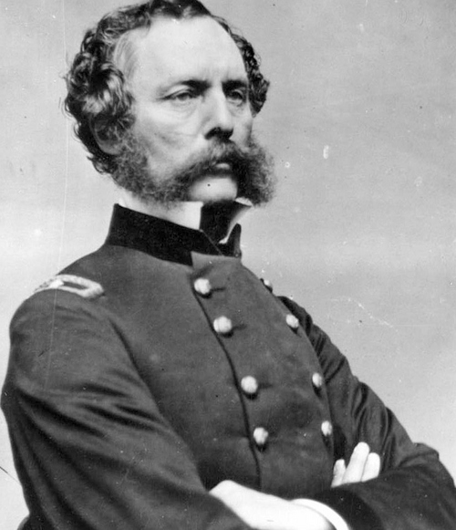 Photo Courtesy Utah State Historical Society  Captain Randolph B. Marcy of the U. S. 5th Infantry had an active role in the Utah War and was once stationed at Camp Floyd.