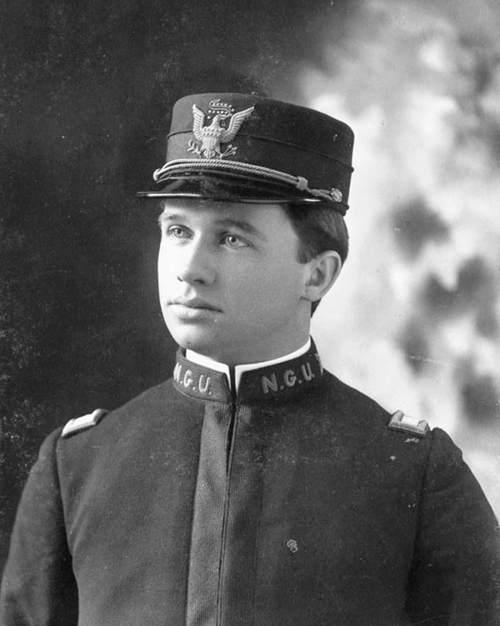 Photo Courtesy Utah State Historical Society  Charles Rendell Mabey (Republican) served as Utah's governor from 1921-1925. Mabey is shown here in his Utah National Guard uniform during his service in the Spanish American War, 1898.