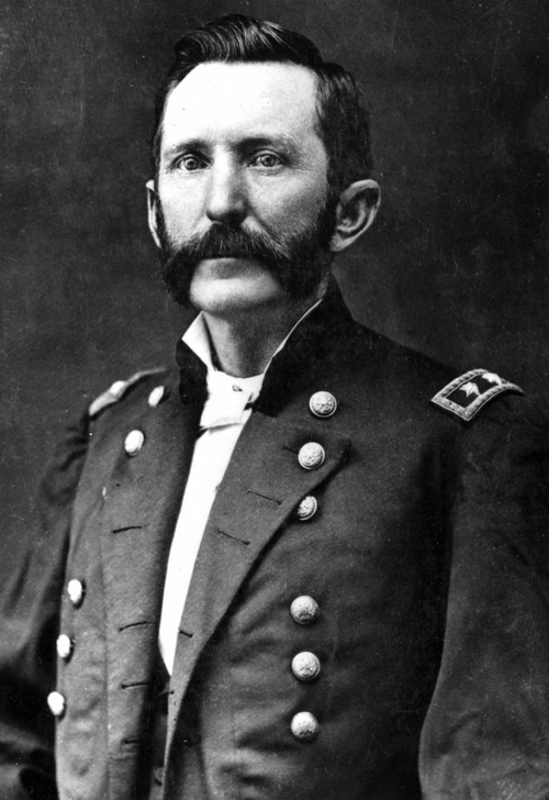 """Photo Courtesy Utah State Historical Society  Patrick Edward Connor was a soldier, mining entrepreneur and political leader. He served in the Union army during the Civil War guarding mail routes in the West. In 1862 Connor moved his command to Salt Lake City, where he founded Camp Douglas and at once engaged in a bitter cold war with Brigham Young, whom he accused of being disloyal and immoral. Connor won a brigadier general's star for his destruction of 250 northwestern Shoshone at Bear River near Franklin, Idaho, in 1863. Connor then returned to the military District of Utah where he was discharged in 1866 as a Brevet Major-General. Connor is remembered as the founder of the """"Liberal Party"""" in Utah and as the """"Father of Utah Mining."""" Connor also established the first daily newspaper in Utah, """"The Daily Union Vedette."""""""