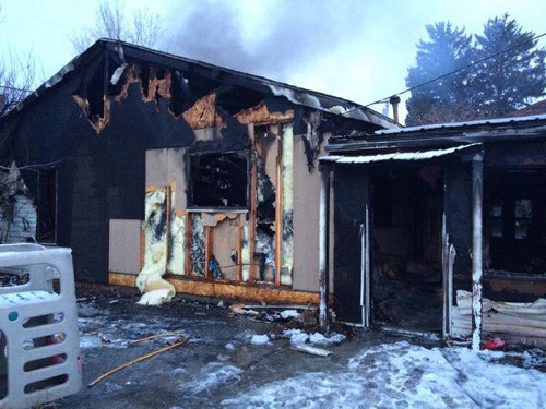 | Courtesy Spanish Fork Police Department A mother and her three children lost their Spanish Fork home to a fire Sunday morning. The fire, reported about 2 a.m., started in the kitchen, though investigators are still trying to determine the cause.