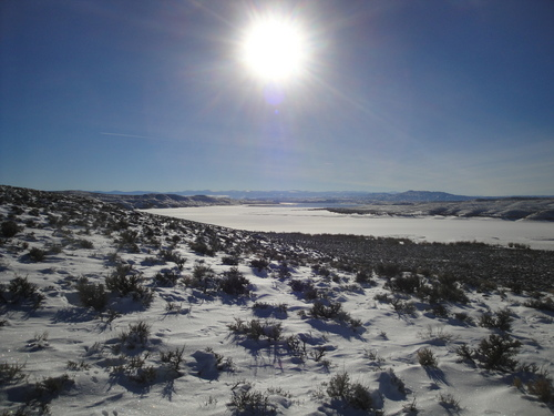 Ice fishing has started on Flaming Gorge Reservoir. Courtesy Ryan Mosley