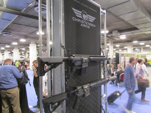 Tom Wharton | The Salt Lake Tribune Christensen Arms of Gunnison had two booths at the huge SHOT Show in Las Vegas this week.