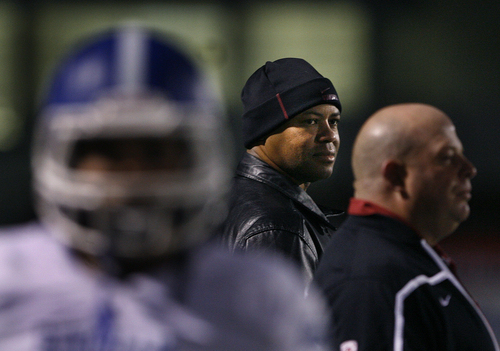 Scott Sommerdorf   |  The Salt Lake Tribune Stanford head coach David Shaw was on the Bingham sidelines - presumably to watch top-rated Bingham TE Dalton Schultz. Bingham held a 20-14 lead at the half over Jordan, Friday, October 11, 2013.