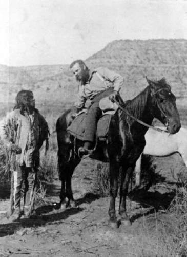 Powell expedition in 1871. Major John Wesley Powell was a soldier who lost his arm in the Civil War, and went on to become a geology professor, American Indian expert, western conservation advocate, and an explorer who's most famous expedition was a 900-mile journey on the Green and Colorado Rivers in 1870.