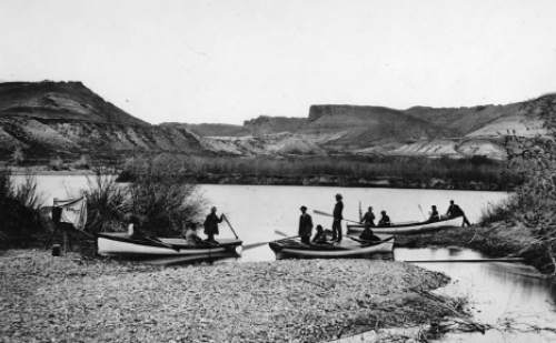 Frederick S. Dellenbaugh in approximately 1871. Dellenbaugh was a boatman and artist on Major Wesley Powell's second expedition through the Grand Canyon.
