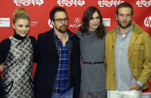 "Leah Hogsten  |  The Salt Lake Tribune l-r Chloe Moretz, Sam Rockwell, Keira Knightley and Mark Webber at the ""Laggies,"" Sundance premiere Friday, January 17, at the Eccles Theatre during the Sundance Film Festival in Park City."