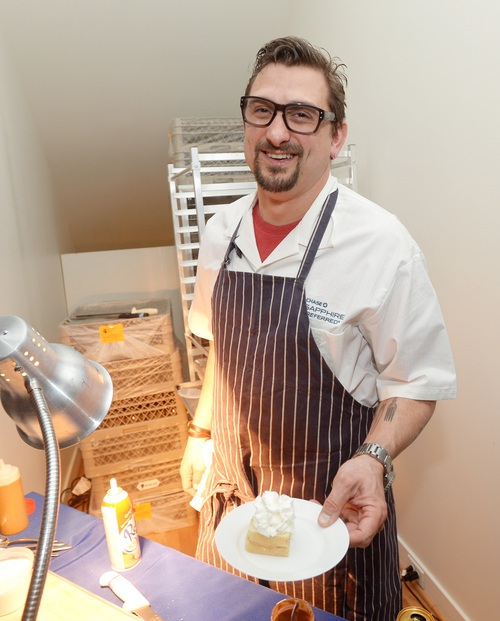 """Chef Chris Cosentino develops a custom menu for the """"Hellion"""" premiere party presented by Chase Sapphire Preferred during the Sundance Film Festival, on Friday, January 17, 2013 in Park City, Utah. (Photo by Evan Agostini/Invision for Chase Sapphire Preferred/AP Images)"""