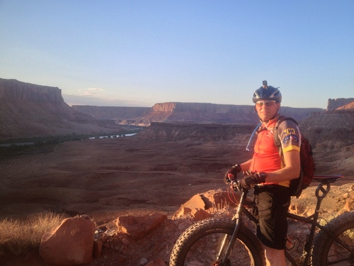 | Courtesy Burton family  Daniel Burton of Saratoga Springs biking in Moab. The morning of Jan. 21, 2014, Burton finished the first ever biking expedition from the Antarctic coast to the South Pole.