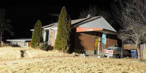 Investigation photos  Matthew David Stewart's house in Ogden is seen after a shoot out with police on January 4, 2012.