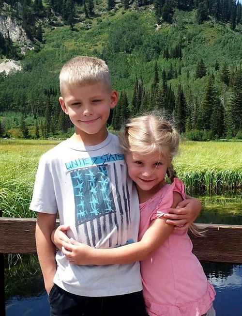 "The slain children, Joshua ""Jaden"" Boren, 7, and his sister, Haley Boren, 5.  Photo from Facebook"