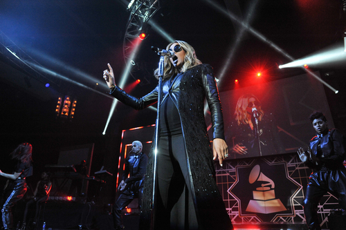 Ciara performs at The 56th Annual GRAMMY Awards - Official After Party, Sunday, Jan. 26, 2014, in Los Angeles. (Photo by Richard Shotwell/Invision/AP)