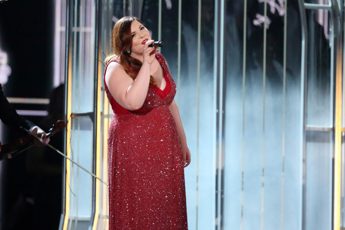 """Mary Lambert performs """"Same Love"""" on stage at the 56th annual Grammy Awards at Staples Center on Sunday, Jan. 26, 2014, in Los Angeles. (Photo by Matt Sayles/Invision/AP)"""