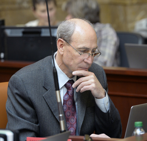 "Al Hartmann  |  The Salt Lake Tribune Rep. Merrill Nelson, R-Grantsville, is sponsoring HB78, a bill to add a donation box on state income tax forms to donate to the state's fight against gay marriage and establishing a ""marriage-defense fund."""