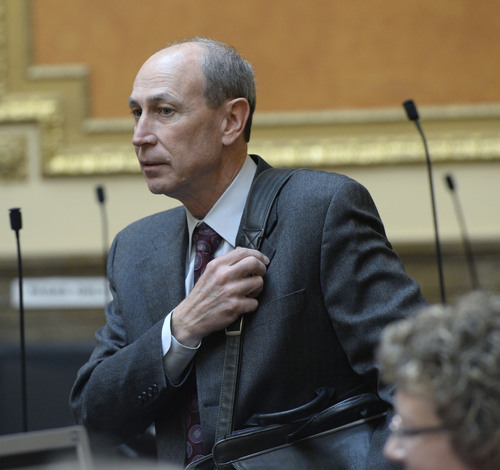 "Al Hartmann  |  The Salt Lake Tribune Rep. Merrill Nelson, R-Grantsville is sponsoring HB78, a bill to add a donation box on state income tax forms to donate to the state's fight against gay marriage and establishing a ""marriage defense fund."""