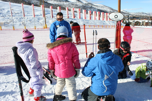Courtesy of Park City Mountain Resort Students participate in a StartNOW ski and snowboard lesson at Park City Mountain Resort. January is Learn to Ski and Snowboard month, with special introductory programs for new skiers at resorts throughout Utah.