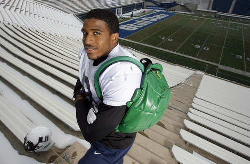 Francisco Kjolseth  |  The Salt Lake Tribune Utah State leading linebacker Bobby Wagner has a love for all things Teenage Mutant Ninja Turtle and he doesn't go anywhere without his themed green shell backpack.