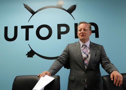 Al Hartmann     The Salt Lake Tribune   Utopia Executive Director Todd Marriott during a meeting in June.