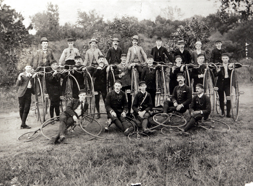 Photos courtesy of Utah Historical Society  Bicycle club in Salt Lake City around 1900.