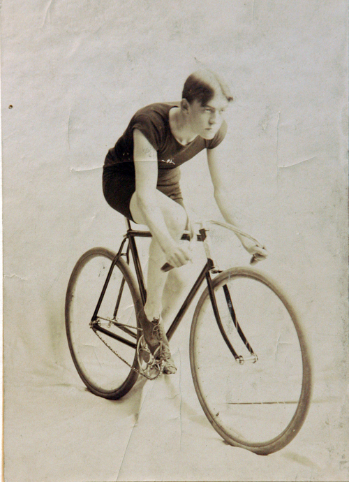 Photos courtesy of Utah Historical Society  Bicycle racer, name unknown, around 1900.