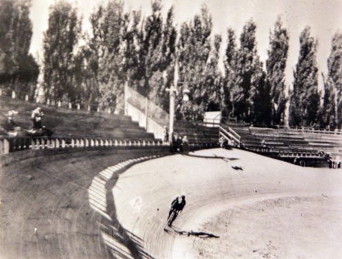 Photos courtesy of Utah Historical Society  The Arena and bicycle tracks at the Salt Palace.
