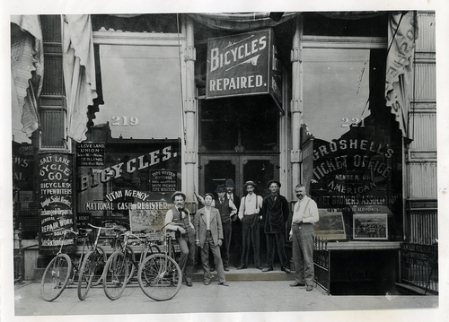 Tribune file photo  This undated photo shows Groshell's Bicycle Shop in Salt Lake City.