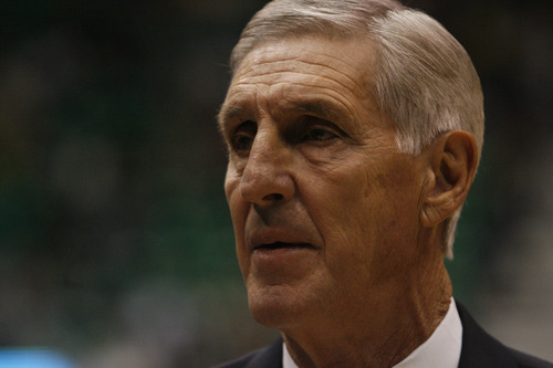 (Tribune file photo) Former Utah Jazz coach Jerry Sloan is seen here in a 2010 game.