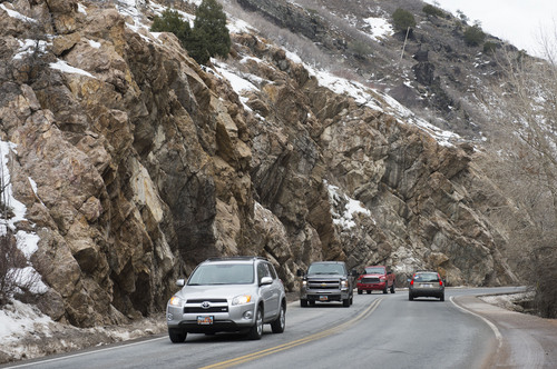 Steve Griffin  |  The Salt Lake Tribune The future of vehicle traffic in Big Cottonwood Canyon, light on a cool, clear Monday, will be evaluated in a proposal over the future of the central Wasatch Mountains.
