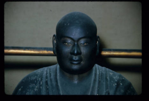 Lennox Tierney | Courtesy J. Willard Marriott Library An example of art from the Rokuharamitsu-ji Temple in Kyoto, Japan. Retired University of Utah professor Lennox Tierney preserved a sculpture of a monk hidden during World War II at the temple.