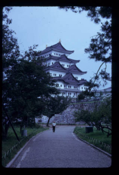 Lennox Tierney | Courtesy J. Willard Marriott Library Nagoya Castle, built in 1612, destroyed in 1945 and restored in 1959. After it was built, Nagoya developed into an important castle town and ultimately Japan's fourth largest city. The castle was almost completely destroyed during air raids in 1945. The interior of the castle is now a museum.