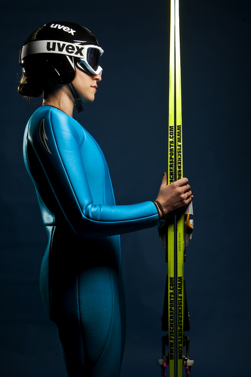 Chris Detrick  |  The Salt Lake Tribune Ski jumping athlete Jessica Jerome poses for a portrait during the Team USA Media Summit at the Canyons Grand Summit Hotel Tuesday October 1, 2013.